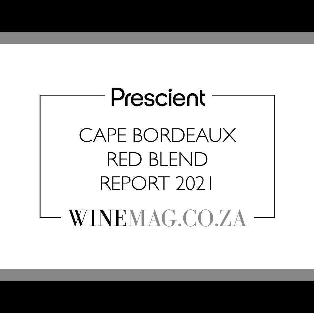 Prescient Cape Bordeax red blend report 2021